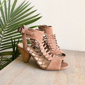 vince camuto taupe strappy heels 8